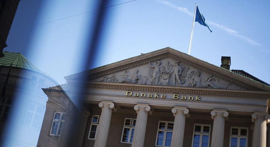 Danske Bank har torsdag præsenteret regnskabstallene for årets første ni måneder. Her ses hovedkvarteret i København.