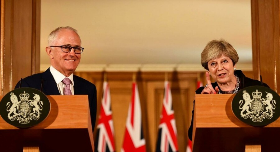 Malcolm Turnbull vil hurtigst muligt have en aftale med Theresa May om frihandel mellem landene.
