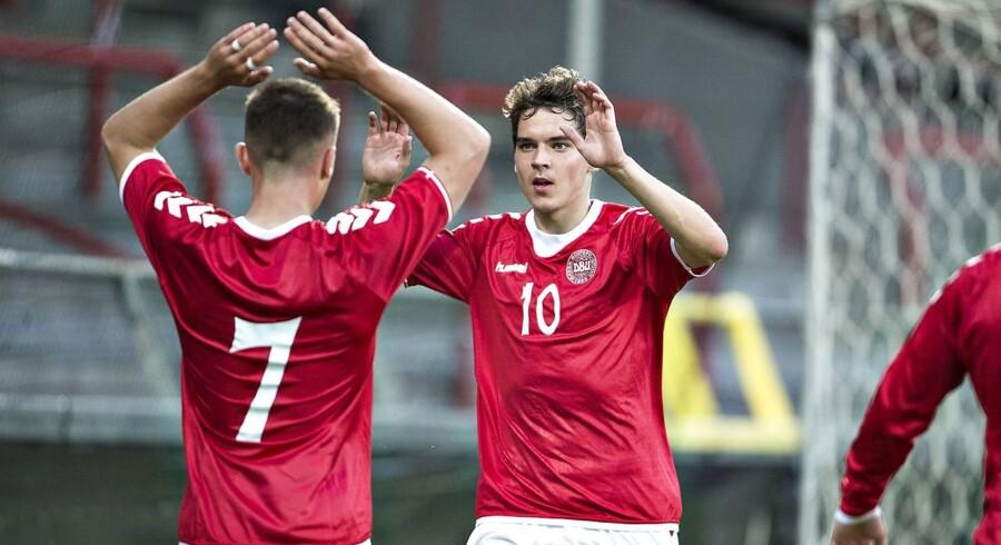 DBU og Spilleforeningen har indgået en delaftale for U21-landsholdet, der i næste uge skal møde Polen. (foto: Henning Bagger / Scanpix 2017)