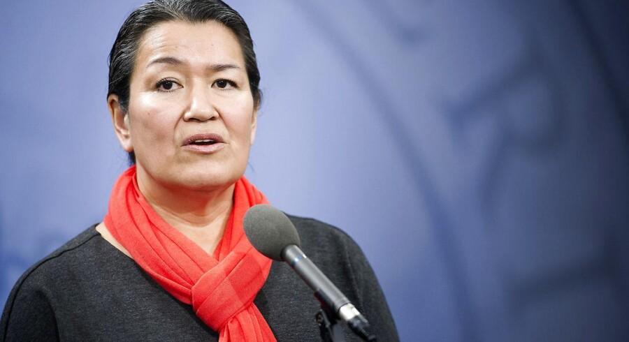 Fremover repræsenterer Aleqa Hammond Nunatta Qitornai i Folketinget. Partiet vil gøre Grønland selvstændigt. (Foto: Keld Navntoft/Scanpix 2014)