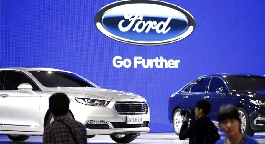 Arkivfoto. Den amerikanske bilproducent Ford leverede bedre end ventet i andet kvartal og ser lyst på hele året.