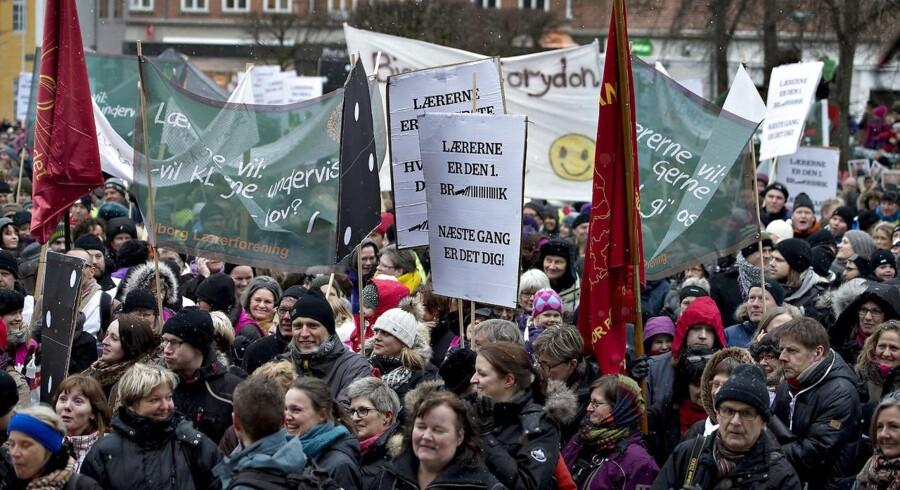 Lærernes arbejdstid er blandt de store knaster i overenskomstforhandlingerne. (Foto: Henning Bagger/Scanpix 2018)