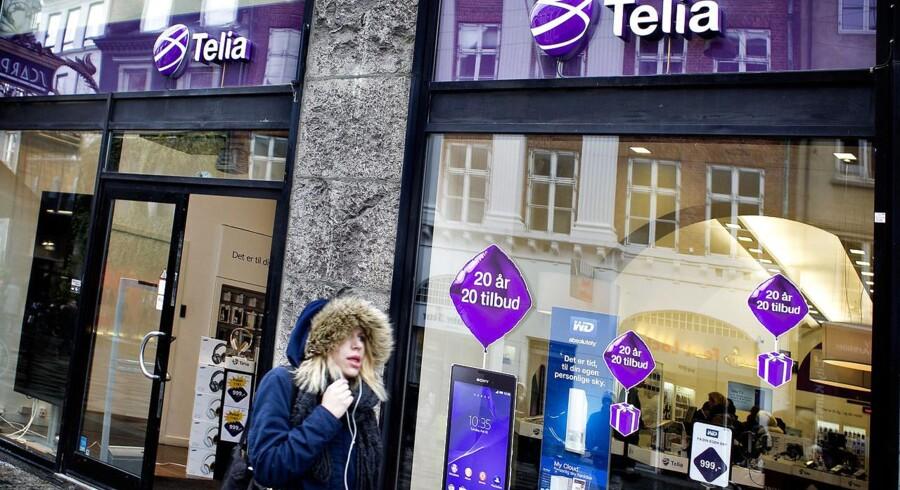 Efter den aflyste fusion med Telenor er Telia igen sig selv i Danmark, hvor mobilkrigen fortsætter, mens priserne langsomt forsøges sat op i ubemærkethed. Arkivfoto: Nils Meilvang, Scanpix