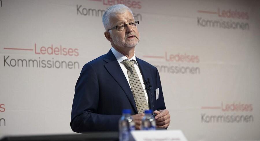 Her indleder formand, Allan Søgaard Larsen, mødet hvor Regeringens Ledelseskommission afleverer anbefalingerne til minister for offentlig innovation Sophie Løhde på et pressemøde i Mærsk Tårnet.