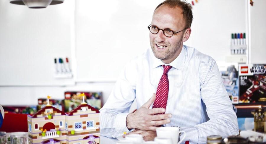 Legos administrerende direktør Jørgen Vig Knudstorp i anledningen af Lego Friends. ARKIVFOTO.