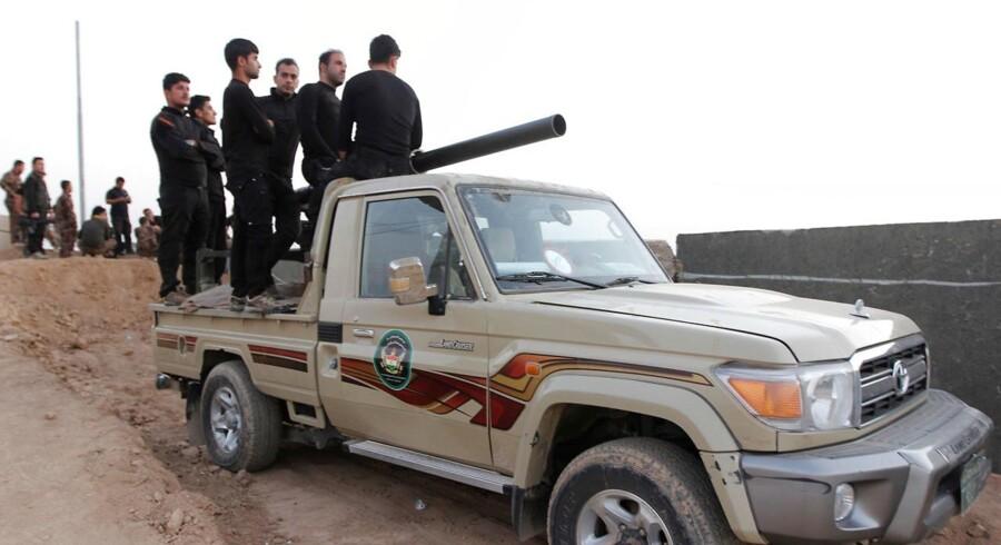 Kurdiske Peshmerga-styrker sydøst for Kirkuk.