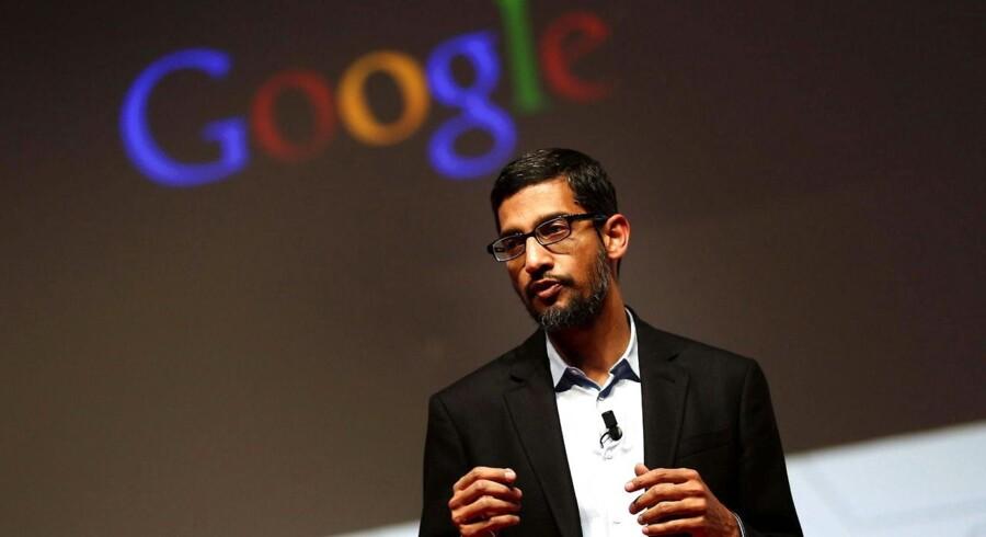 Googles Android-chef, Sundar Pichai, fortalte på Mobile World Congress, at Google snart åbner sit eget mobilselskab i USA. Foto: Toni Albir, EPA/Scanpix
