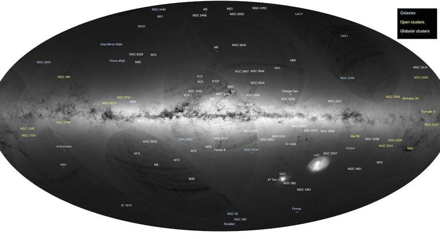 Dette kort over Mælkevejen og nabogalakser er blevet udgivet af ESA 14. september 2016.