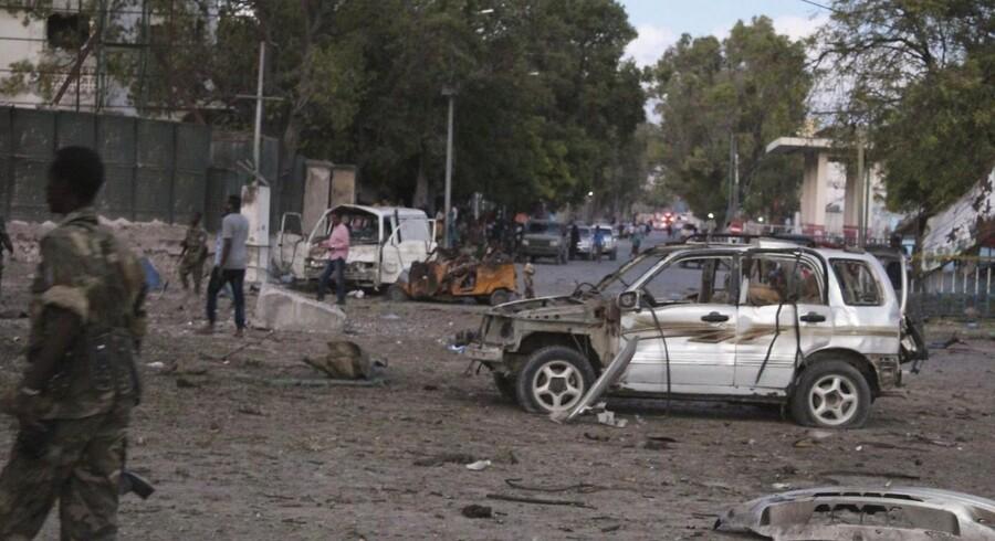Arkivfoto: Bileksplosion i Somalia d. 31 marts 2017.