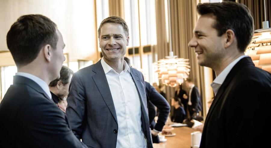 Adm. direktør Anders Hinsby (t.v.) og forskningsdirektør Thomas Kirkegaard Jensen gør klar til at sende det firma, de stiftede for otte år siden, på børsen.