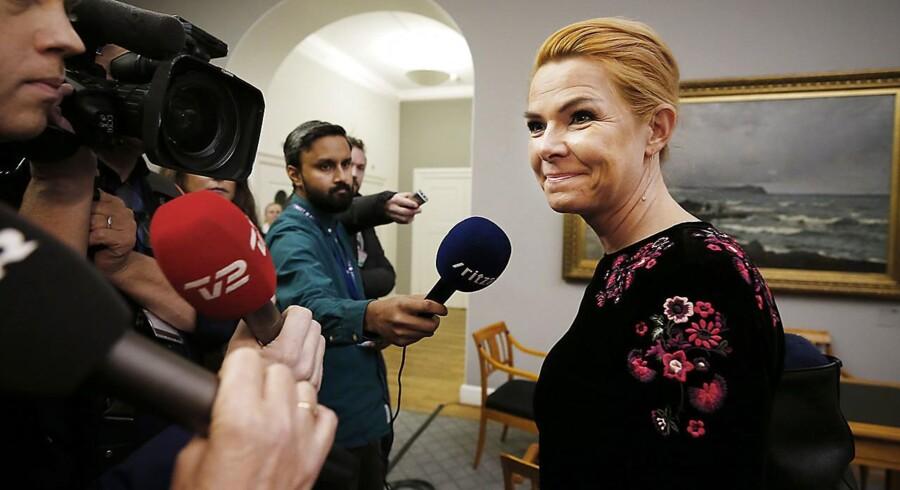 Udlændinge- og integrationsminister Inger Støjberg efter samrådet.