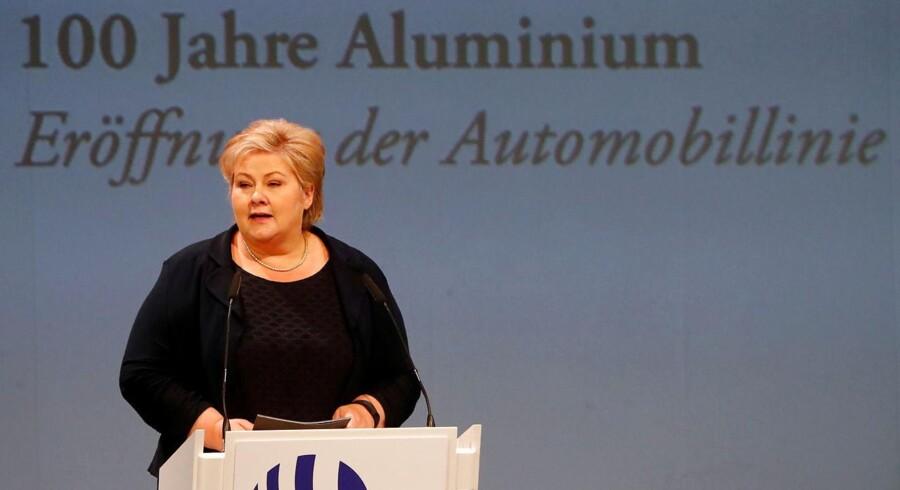 Statsminister og Høyre-leder Erna Solberg er overrasket over meningsmålingerne.