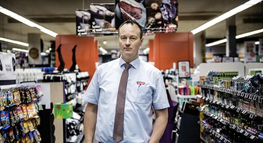 MENY. Brian Rosenstand har to MENY-butikker i Valby-området, der er hårdt ramt af butikstyverier.