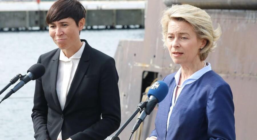 Ny norsk regering under Erna Solberg får tre nye ministre, deriblandt en kvindelig udenrigsminister.