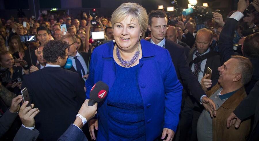 »Nu skal Solberg indlede en ny fire-årig periode. Man kan håbe, at hun for alvor kan få sat diskussionen i gang om fremtiden for Norge og for erhvervslivet.«