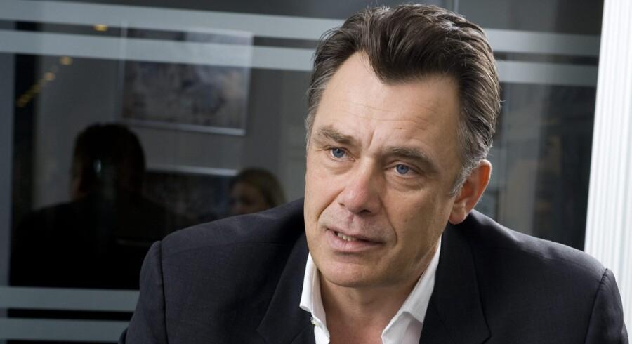 Morten Christiansen, administrerende direktør i »3«, forudser hård kamp, når staten til næste år sætter 1.800 megahertzfrekvenserne, en af de helt centrale brikker i mobildækningen, på ny auktion. Arkivfoto: Torben Klint