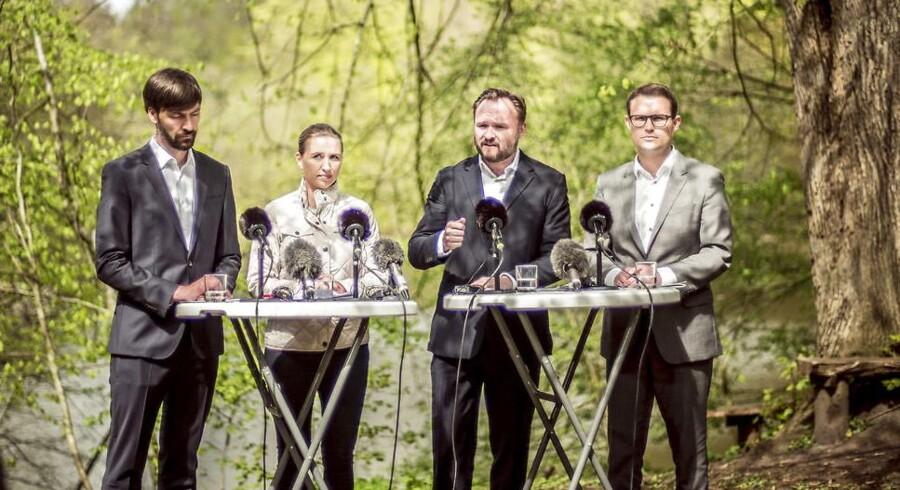 Mette Frederiksen fremlagde torsdag Socialdemokratiets klima- og miljøpolitiske udspil.. (Foto: Michael Drost-Hansen/Ritzau Scanpix)