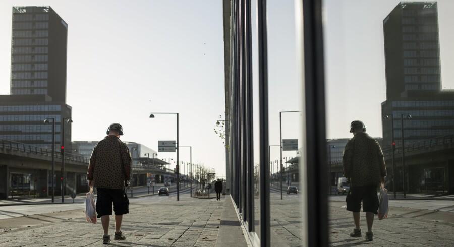 """""""Hvordan skal der skabes plads til de mange nye københavnere?"""" Her Ørestads Boulevard i Ørestad City. Arkivfoto: Scanpix"""