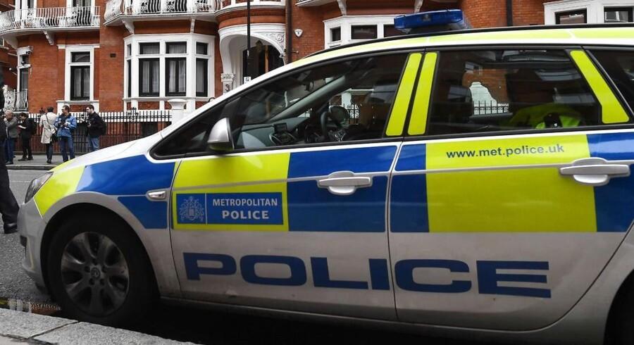Metropolitan Police i London undersøger fem episoder med formodede syreangreb. Arkivfoto.
