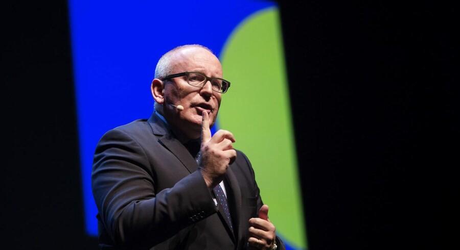U-Kommissionens første næstformand, Frans Timmermans: »Man kan ikke være halvt gravid«