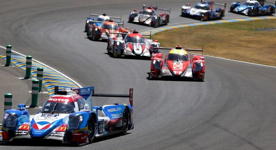 Danskeren David Heinemeier Hansson er med helt i toppen af den samlede stilling ved dette års Le Mans. EPA/EDDY LEMAISTRE