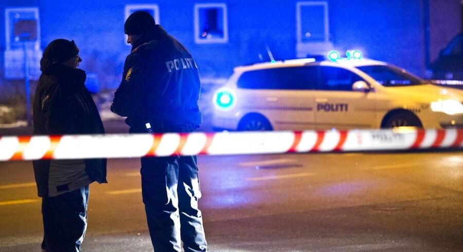 To 30-årige mænd er onsdag blevet anholdt for et drabsforsøg, der skete 31. oktober som led i bandekonflikten i København.(Foto: Martin Sylvest Andersen/Scanpix 2013)