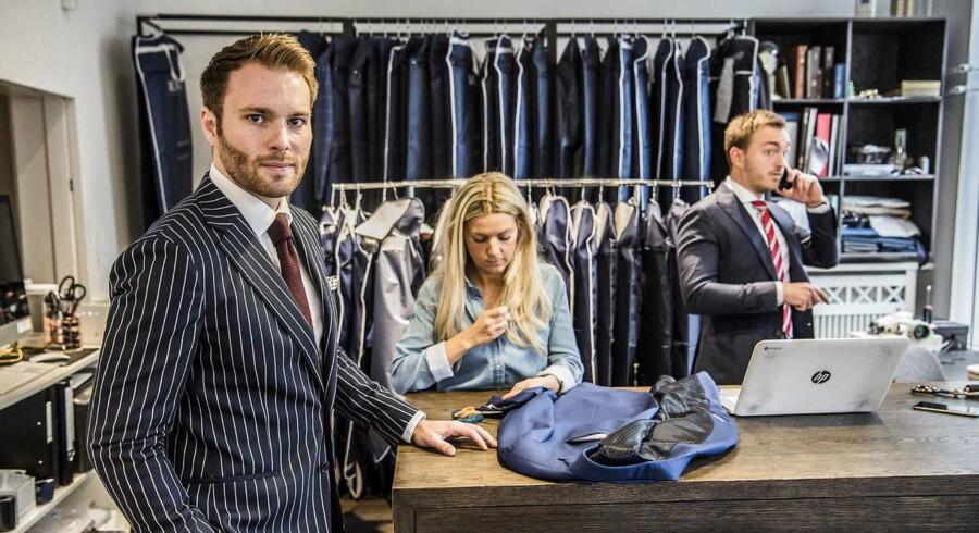 Mond of Copenhagen - er en skrædder der laver jakkesæt ud fra 3D scanninger, som foretages i butikken på Nørrebro. Virksomheden er netop kommet ud med et regnskab, der er fordoblet fra 2015 til 2016. Medstifter Michael Birch (TV).