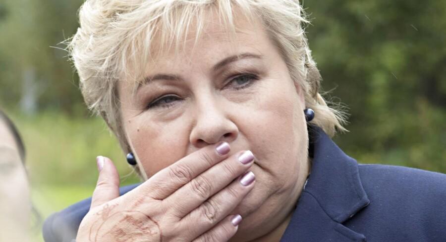 Statsminister Erna Solberg har forsøgt at holde fast i regeringsmagten forud for mandagens norske valg. Derfor har spørgsmålet om Norges afhængighed af olieudvinding ikke fyldt meget i den norske valgkamp.