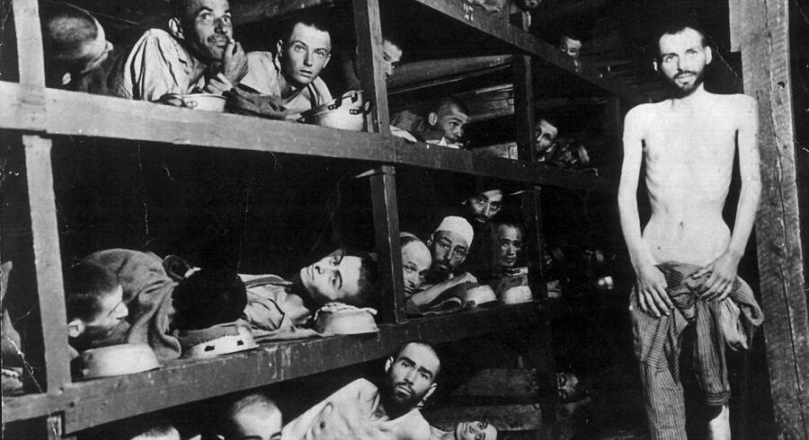 Fanger fra en af nazisternes koncentrationslejre under Anden Verdenskrig. Fanger som disse gravede en flugttunnel ud i en skov i Litauen. Tunnelen er nu fundet af arkæologer. Scanpix/Nf