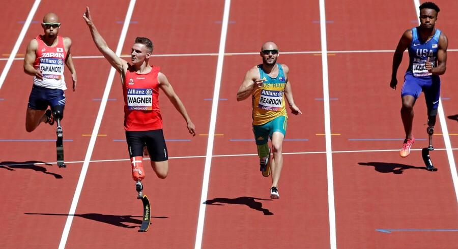 Daniel Wagner vandt sølv på 100 meter til VM i para-atletik.