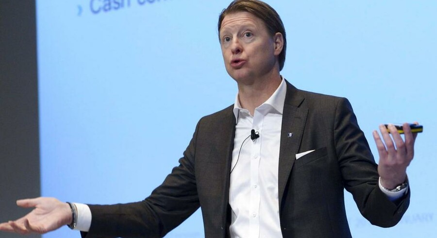 Ericsson med topchef Hans Vestberg i spidsen kræver penge af Apple og går nu rettens vej for at få dem. Arkivfoto: Janerik Henriksson, EPA/Scanpix