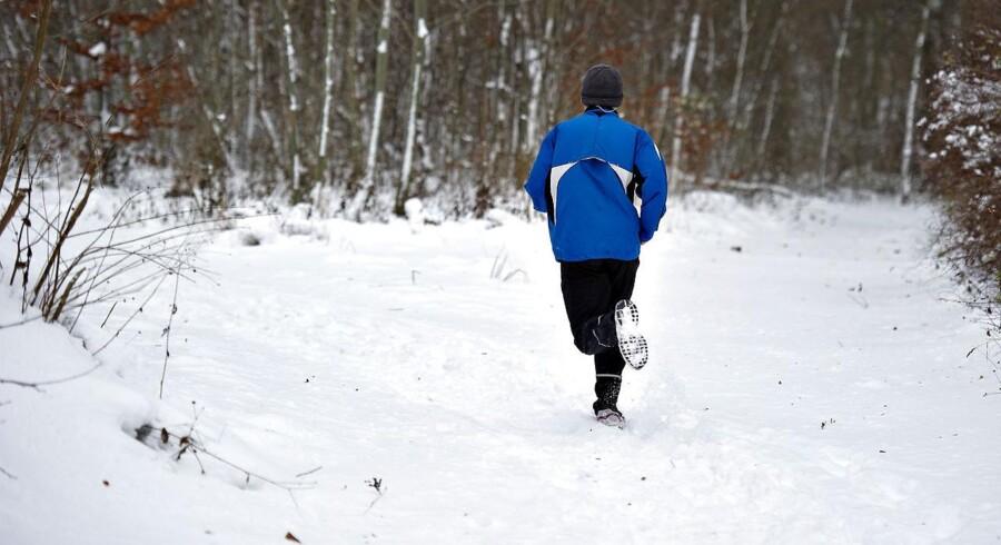 Når vinterkulden først rigtig har taget fat, så bliver det sværere for mange motionsløbere at fortsætte de ugentlige ture udendørs. (Foto: Henning Bagger/Scanpix 2016)