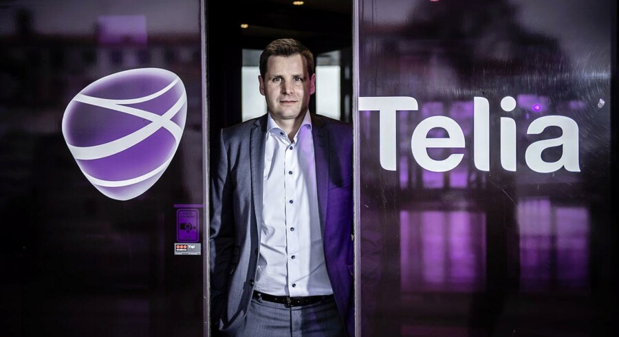 Telia i Danmark har de seneste tre år oplevet konstant flere kunder i butikken, som Morten Bentzen siden oktober 2015 har stået i spidsen for. Arkivfoto: Thomas Lekfeldt