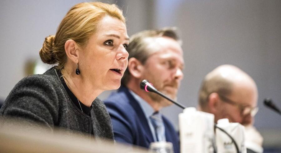 Arkivfoto: Udlændinge- og integrationsminister Inger Støjberg, udenrigsminister Anders Samuelsen og justitsminister Søren Pape Poulsen.