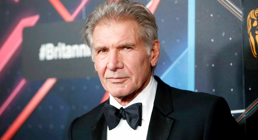 Actor Harrison Ford, recipient of the Albert R. Broccoli Britannia Award for Worldwide Contribution to Entertainment, poses at the Britannia Awards hosted by BAFTA Los Angeles in Beverly Hills, California, in this October 30, 2015 file photo. To match FILM-STARWARS/FORD REUTERS/Danny Moloshok/Files