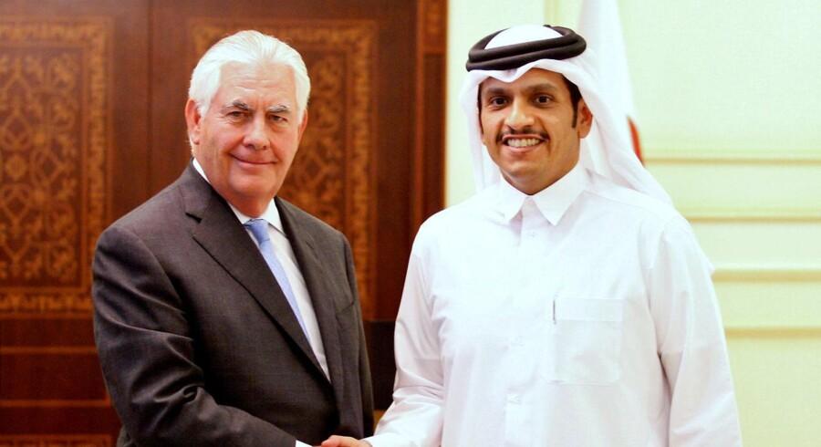 Mens Qatar står isoleret blandt de øvrige lande i Golfen, har det lille emirat underskrevet en aftale med amerikanerne om at bekæmpe terrorisme. REUTERS/Naseem Zeitoon