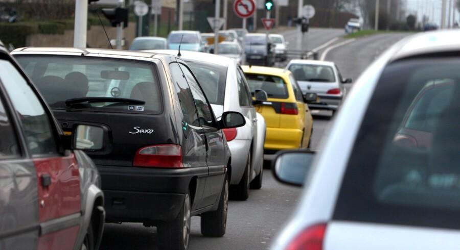 Et uheld på hillerødmotorvejen skaber lange køer. (arkivfoto) Free/Colourbox.dk