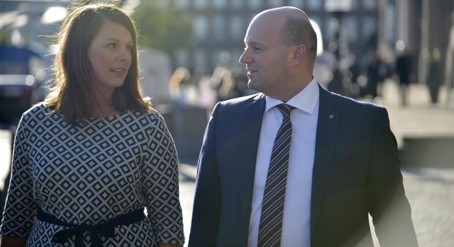 De Konservatives politiske ordfører, Mette Abildgaard, oplyser, at hun ikke bliver minister, såfremt at Venstre, Liberal Alliance og De Konservative bliver enige om en ny regering. Scanpix/Ida Guldbæk