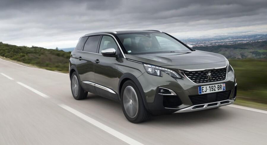 Peugeot 5008 var tidligere end MPV, men den nye er en SUV i stil med Nissan X-Trail. Priserne starter ved 309.990 kr.