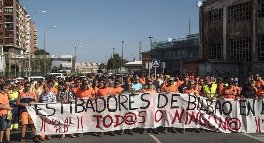 Spanske havnearbejderes strejke er forbi