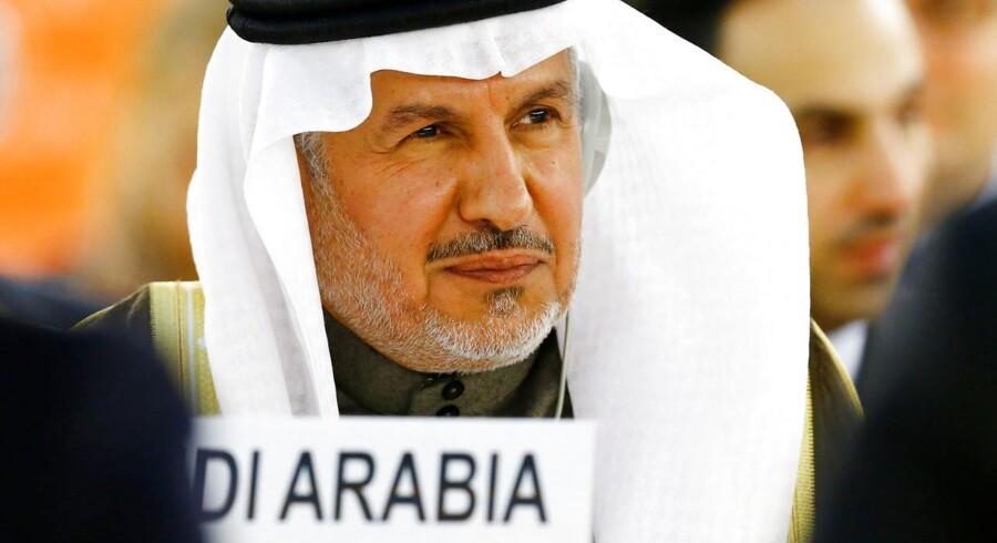 Abdullah al-Rabeeah fra den saudiske FN delegation under et krisemøde om krigen i Yemen. Geneve, April 25, 2017. REUTERS/Denis Balibouse