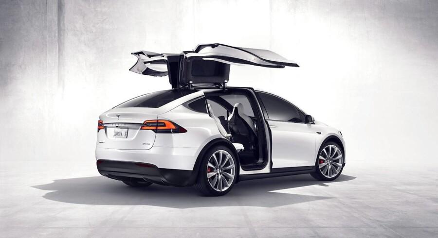 Arkiv: Tesla tilbagekalder 11.000 biler af mærket Model X SUV (på billedet). De tilbagekaldte biler er produceret mellem 28. oktober 2016 og 16. august 2017.