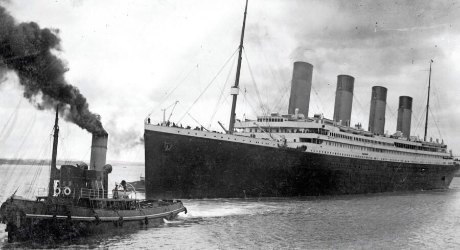 Fotoet fra 4. april 2012 viser »Titanic« forlade Southampton. Foto: AFP