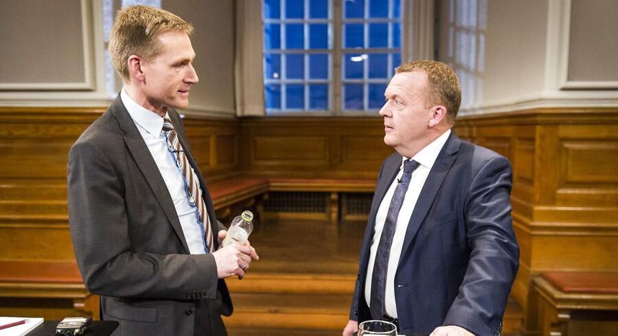 Kristian Thulesen Dahl (tv.) har gentagne gange sagt, at VLAK-regeringen vil bruge »alt for lidt« penge på den offentlige sektor. Nu vil regeringen så bruge flere penge for at imødekomme DF.