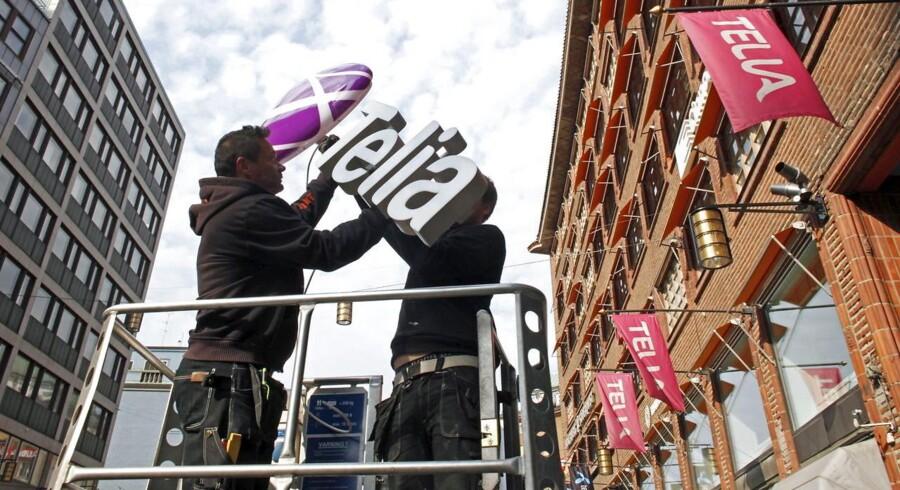 Telia skal nu hedde Telia overalt og ikke TeliaSonera, som faktisk er mobilgigantens officielle navn. Arkivfoto: Bob Strong, Reuters/Scanpix