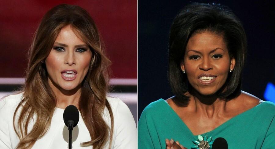 Den amerikanske præsidentkandidat Donal Trumps hustru, Melania, er under anklage for at have holdt en plagieret tale ved Republikanernes konvent, fra en tale Michelle Obama holdt i 2008.