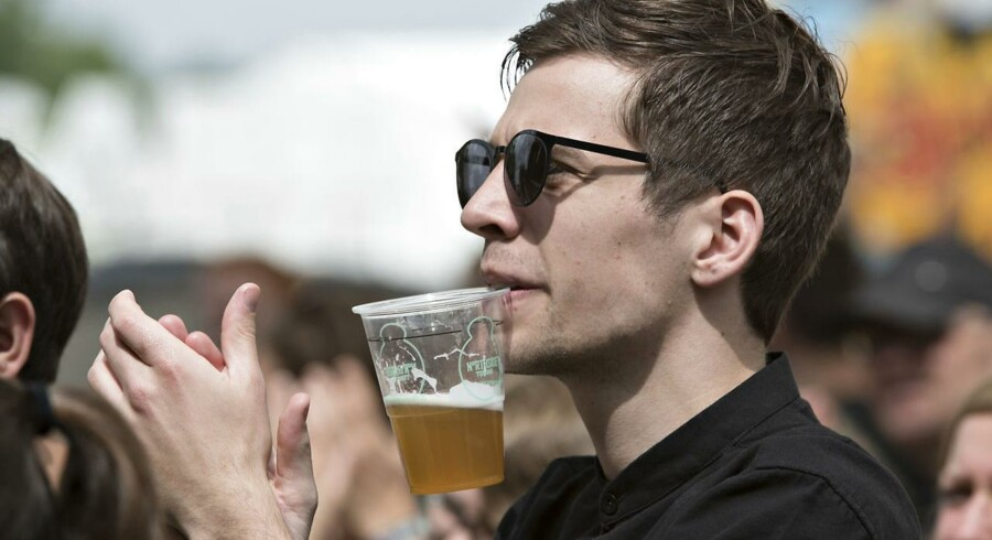 Arkivfoto: Økologisk øl er et blev et hit, og kategorien er samlet set vokset 26 pct. i år på det danske marked. I år bliver Tuborg Rå festivaløl på Northside.