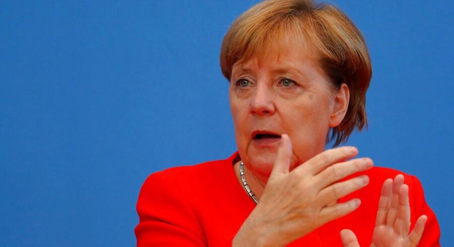 Arkivfoto. Den tyske forbundskansler forsvarer linjen i sin politik for migranter og flygtninge i en tale i Berlin.
