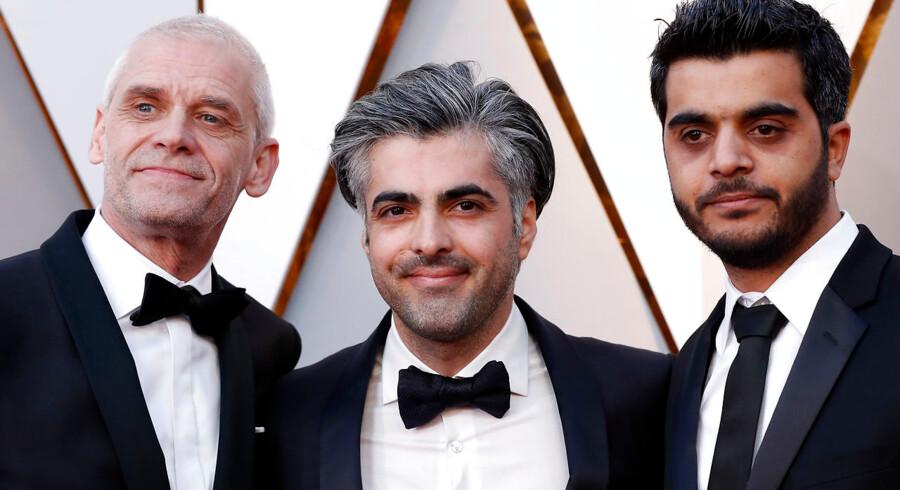 Holdet bag »Last Men in Aleppo«, Søren Steen Jespersen, Feras Fayyad og Kareem Abeed, fik ingen Oscar søndag nat