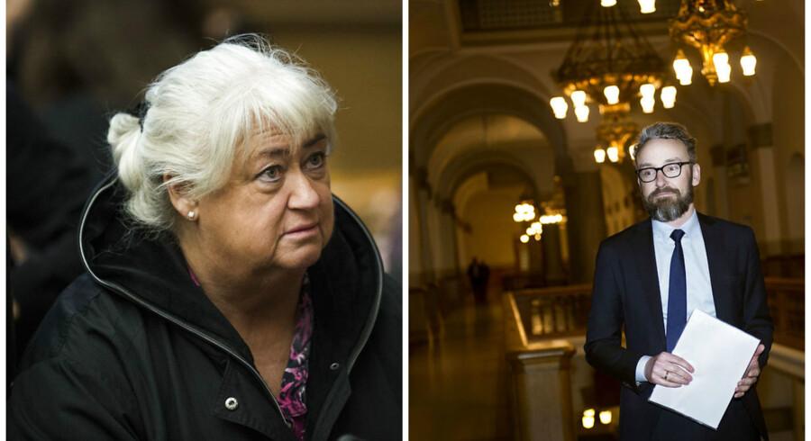 Transportminister Ole Birk Olesen og Thyra Frank - begge fra LA - har fået hård kritik fra Dansk Folkeparti.